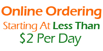 Online Ordering - Starting as less than $2/day
