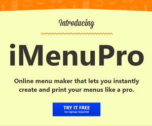 iMenuPro - Restaurant Menu Design Software